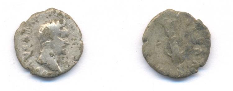 Római ezüstdénár a II. század végéről a 197. objektumból