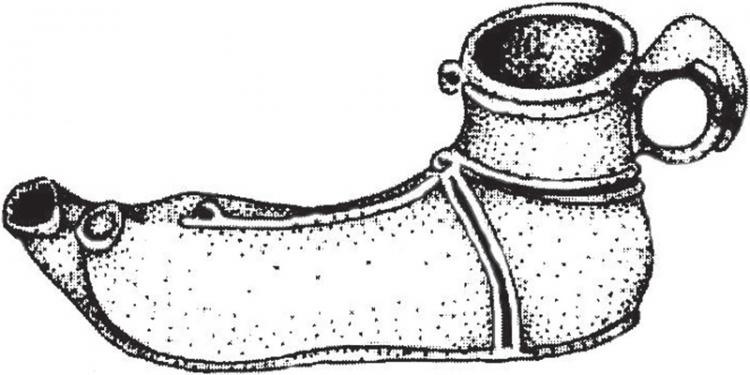 Sarus láb alakú mécses