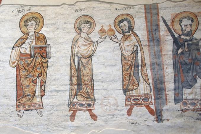 János Apostol, Szent Kozma és Demján ábrázolás