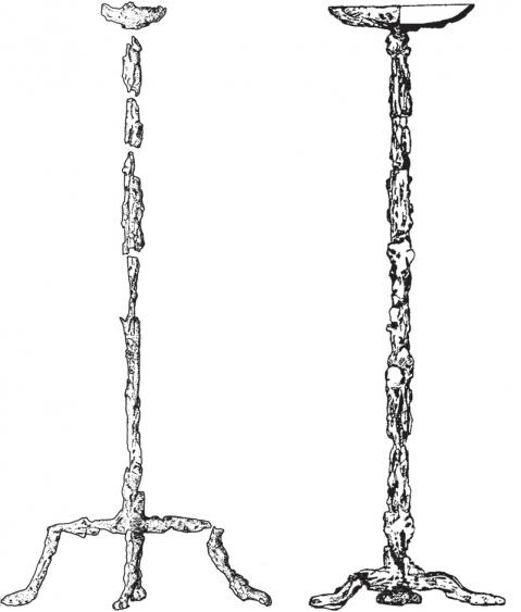 1: Tiszalök (Istvánovits–Kulcsár–Carnap- Bornheim 2006. Fig. 3: 2 alapján); 2: Uszty-Alma (Loboda–Puzdrovskij–Zajcev 2002. 22: 4. alapján)