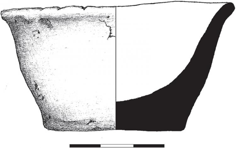 Nyíregyháza–Felsősima, Gyebrás-tanya, M3 autópálya 161. lelőhely 19. sír (Beleznai Gabriella rajza)