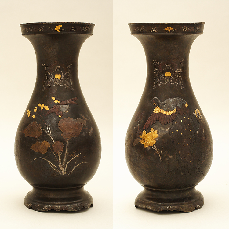 A restaurált japán váza (fotó: Nyíri Gábor)