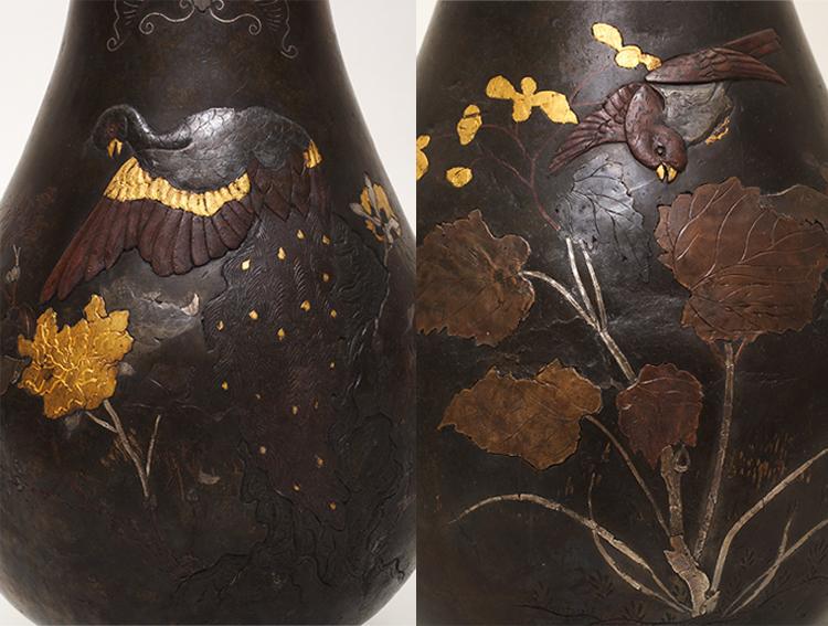 Nagyítás a restaurált vázáról (fotó Nyíri Gábor)